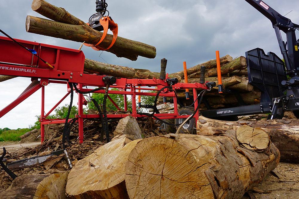Log processing at Hogs Back Logs