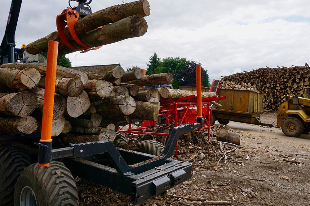 Family run log delivery business