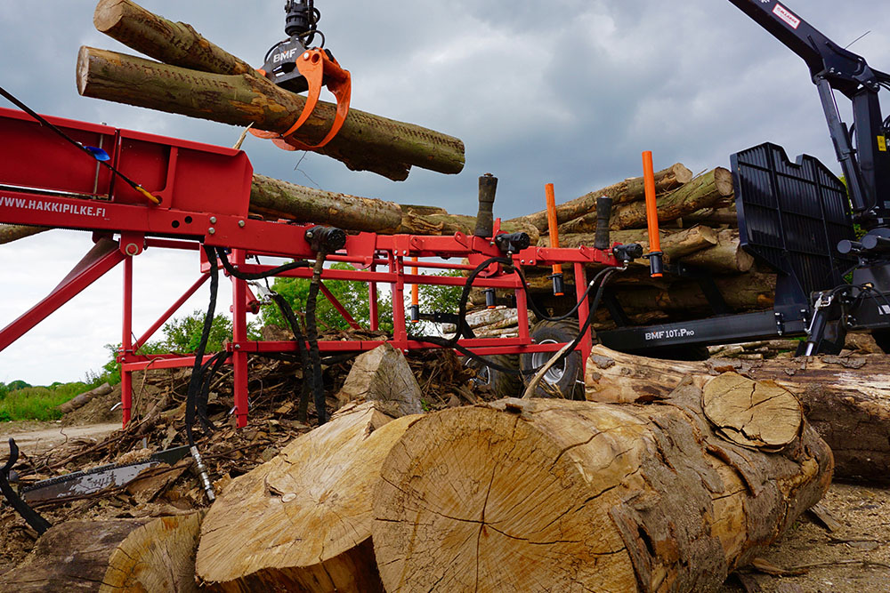 Log processing at Hogs Back Logs